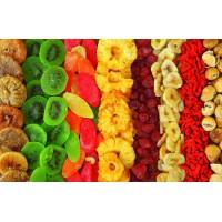 Сушеные фрукты и овощи (живые чипсы)