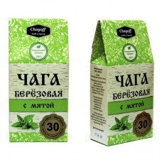 """Напиток чайный """"ЧАГА БЕРЕЗОВАЯ С МЯТОЙ"""" 60гр ф/п.  (Чагофф)"""