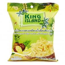 king island чипсы кокосовые  40г с ананасом