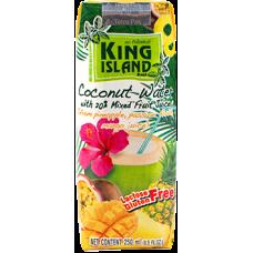 king island вода кокосовая 250л с фруктовым соком ананас маракуйя манго