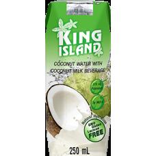 king island вода кокосовая 250л с фруктовым соком лайм/гуава/яблоко