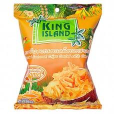 king island чипсы кокосовые карамельные 40г
