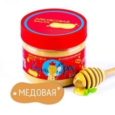Арахисовая паста МЕДОВАЯ с мёдом и солью, 300 г, банка (Король Орех). БЕЗ САХАРА