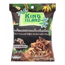 king island чипсы кокосовые с шоколадом 40г