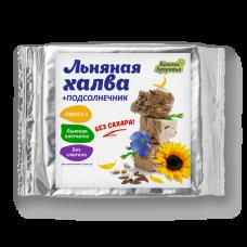 Халва подсолнечно-льняная с семенами коричневого льна на фруктозе 250 г (Без сахара)