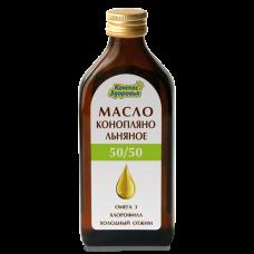 Масло КОНОПЛЯНО-ЛЬНЯНОЕ 250 мл (Компас здоровья)
