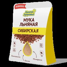 """Мука льняная """"Сибирская"""" 200 г (Компас Здоровья)"""