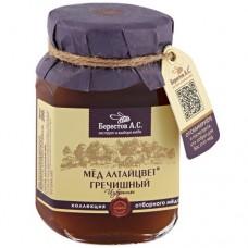 Мед натуральный полифлорный АЛТАЙЦВЕТ ГРЕЧИШНЫЙ  Избранное 200гр (Берестов А.С.)