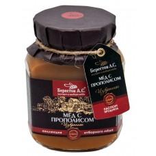 Мед натуральный полифлорный с ПРОПОЛИСОМ Избранное 200гр (Берестов А.С.)