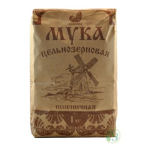 Мука цельнозерновая пшеничная, 1 кг «Дивинка»