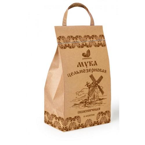Мука пшеничная цельнозерновая Дивинка (крафт-пакет, 4,1кг)