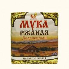 Мука цельнозерновая ржаная «Деревенская», 1кг «Дивинка»