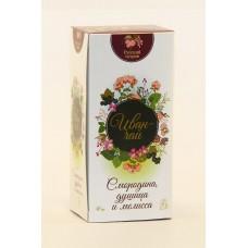 Иван-чай РУССКИЙ ОСТРОВ смородина, душица и мелисса, (20 фильтр-пакетов), 40 г