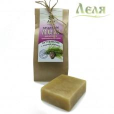 Мыло кедровое для детской и чувствительной кожи (80г) «Леля»
