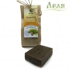 Мыло кедровое для проблемной кожи с берёзовым дёгтём (80г) «Леля»