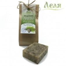 Мыло шампуниевое твердое «Кедровое» для всех типов кожи и волос (80г) «Леля»