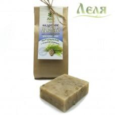 Мыло-скраб кедровое для всех типов кожи (80г) «Леля»