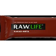 Орехово-фруктовый батончик R.A.W. LIFE Какао-мята, 47г