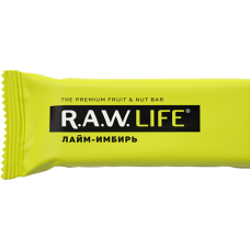 Орехово-фруктовый батончик R.A.W. LIFE Лайм - Имбирь , 47г