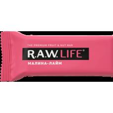 Орехово-фруктовый батончик R.A.W. LIFE Малина - Лайм, 47г