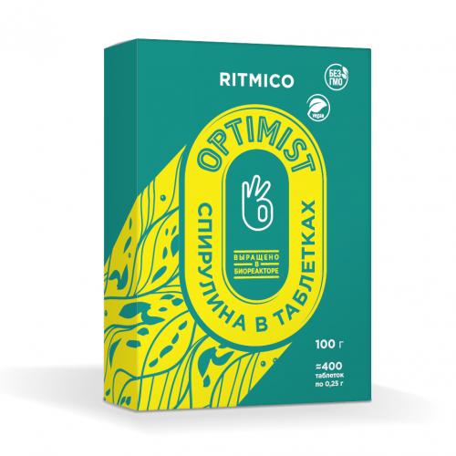 Спирулина органическая в таблетках, 100г (Ритмико Биотех)