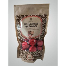 Конфеты «Кедровый Грильяж» с клюквой в шоколадной глазури (200г, крафт-пакет) «Сибирский Кедр»