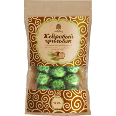 Конфеты «Кедровый Грильяж» с молодой сосновой шишкой в шоколадной глазури, 200г (Сибирский кедр)