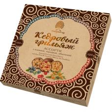 Конфеты «Кедровый Грильяж» АССОРТИ в шоколадной глазури, 120г, коробка (Сибирский кедр)