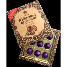 Конфеты «Кедровый Грильяж» с черемухой в шоколадной глазури, 120г, коробка (Сибирский кедр)