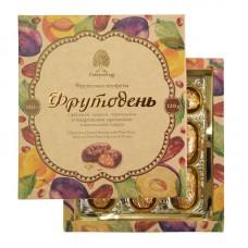 Конфеты «Фрутодень» с кедровыми орешками в шоколадной глазури, 120г, коробка (Сибирский кедр)