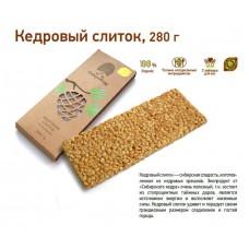 Козинаки из кедрового ореха «Кедровый слиток», 280г, коробка (Сибирский кедр)