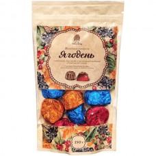 Мармелад «Ягодень» Ассорти в шоколадной глазури, крафт-пакет, 150г (Сибирский кедр)