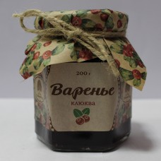 Варенье из клюквы, 200г (Сибирский кедр)
