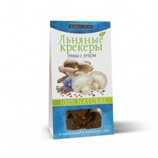 Льняные крекеры ГРИБЫ С ЛУКОМ, 60гр (Живые снеки)
