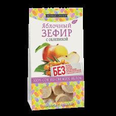 Яблочный зефир с ОБЛЕПИХОЙ 60 гр.  (Живые снеки)