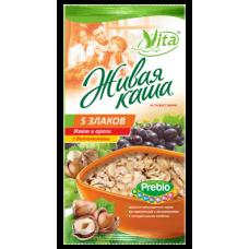 """Живая каша """"Vita"""" (5 злаков с изюмом и орехами)"""